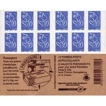 Carnet Postexport 2008 - 12 TVP Bleu Lamouche
