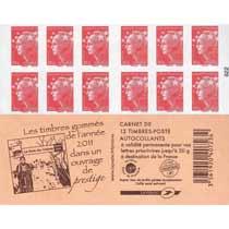 Les timbres gommés de l'année 2011 dans un ouvrage de prestige