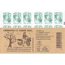 2014 Carnet choisissez le timbre vert