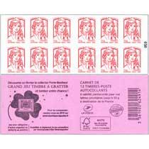 2014 Carnet grand jeu timbre à gratter