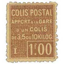 COLIS POSTAL apport à la gare un colis de 3,5 ou 10 kilos