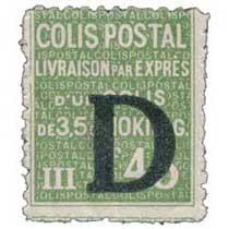 COLIS POSTAL Livraison par exprès d'un colis de 3,5 à 10 Kilog.