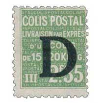 COLIS POSTAL Livraison par exprès d'un colis de 15 à 20 Kilog.