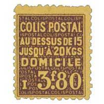 COLIS POSTAL AU DESSUS DE 15 JUSQU'À 20 KGS DOMICILE
