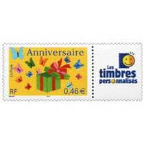 Anniversaire Les timbres personnalisés