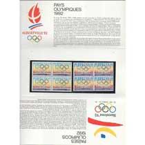 POCHETTE 1992 émission commune France - Espagne