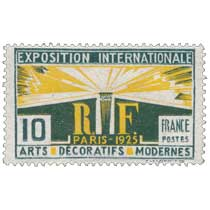 EXPOSITION INTERNATIONALE PARIS - 1925 ARTS DÉCORATIFS MODERNES