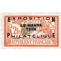 EXPOSITION LE HAVRE 1929 PHILATÉLIQUE