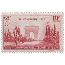 11 NOVEMBRE 1938 20ÈME ANNIVERSAIRE DE L'ARMISTICE