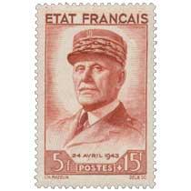 ÉTAT FRANÇAIS 24 AVRIL 1943