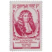 JOURNÉE DU TIMBRE 1947 LOUVOIS SURINTENDANT GÉNÉRAL DES POSTES 1668-1691