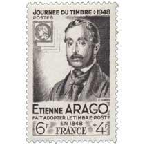 JOURNÉE DU TIMBRE - 1948 ETIENNE ARAGO FAIT ADOPTER LE TIMBRE-POSTE EN 1948