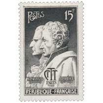 F.ARAGO 1786-1853 AMPÈRE 1775-1836 CITT PARIS 1949