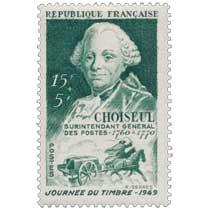 CHOISEUL SURINTENDANT GÉNÉRAL DES POSTES - 1760 à 1770 JOURNÉE DU TIMBRE - 1949