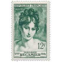 MADAME RÉCAMIER 1777-1849