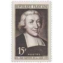 JEAN-BAPTISTE DE LA SALLE 1651-1719