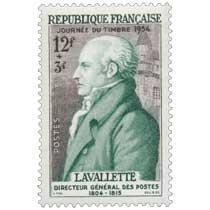 JOURNÉE DU TIMBRE 1954 LAVALETTE DIRECTEUR GÉNÉRAL DES POSTES 1804-1815