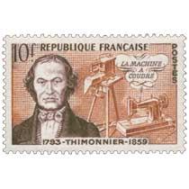 LA MACHINE A COUDRE THIMONNIER 1793-1859
