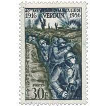 40e ANNIVERSAIRE DE LA BATAILLE DE VERDUN 1916-1956