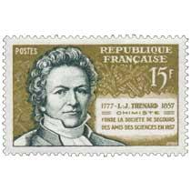 L.-J. THENARD 1777-1857 CHIMISTE FONDE LA SOCIÉTÉ DE SECOURS DES AMIS DE LA SCIENCES EN 1857
