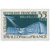 BRUXELLES 1958 PAVILLON DE LA FRANCE