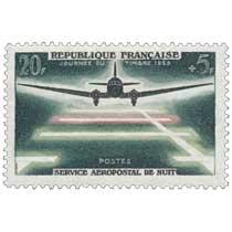 JOURNÉE DU TIMBRE 1959 SERVICE AÉROPOSTAL DE NUIT