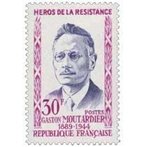 HÉROS DE LA RÉSISTANCE GASTON MOUTARDIER 1889-1944