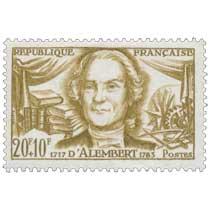 D'ALEMBERT 1717-1783