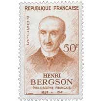 HENRI BERGSON 1859-1941 PHILOSOPHE FRANÇAIS