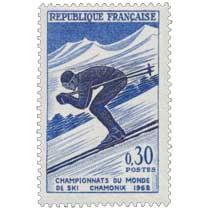 CHAMPIONNATS DU MONDE DE SKI CHAMONIX 1962