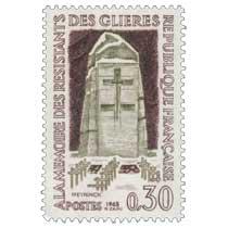 1963 À LA MÉMOIRE DES RÉSISTANTS DES GLIÈRES NEYEINCK