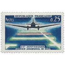 1964 25E ANNIVERSAIRE SERVICE AÉROPOSTAL DE NUIT