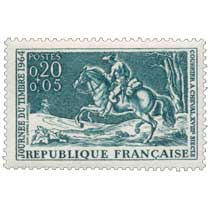 JOURNÉE DU TIMBRE 1964 COURRIER A CHEVAL, XVIIIe SIÈCLE