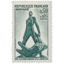 RÉSISTANCE 1964 XXe ANNIVERSAIRE DE LA LIBÉRATION