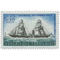 JOURNÉE DU TIMBRE 1965 PAQUEBOT POSTE LA GUIENNE 1860