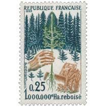1965 1.000.000e Ha reboisé