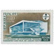 Ve CONFÉRENCE DE COOPÉRATION MONDIALE ENSEIGNEMENT AUDIO-VISUEL DES LANGUES VIVANTES ROYAN 1968
