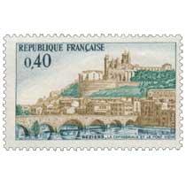 1968 BÉZIERS - LA CATHÉDRALE ET LE PONT VIEUX