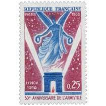 1968 11 NOV. 1918 50e ANNIVERSAIRE DE L'ARMISTICE