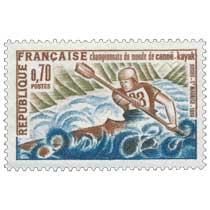 championnats du monde de canoë-kayak Bourg-St Maurice 1969