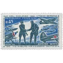 1969 NORMANDIE-NIEMEN 1942 MOSCOU-IVANOVO 1943 OREL-SMOLENSK. 1944 VITEBSK-BEREZINA MINSK-VILNO-KOVNO-NIÉMEN 1945 INSTERBURG-KOE