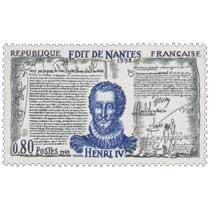 1969 ÉDIT DE NANTES 1598 HENRI IV