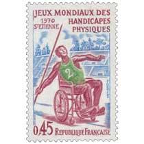JEUX MONDIAUX DES HANDICAPÉS PHYSIQUES 1970 ST-ETIENNE