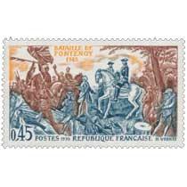 1970 BATAILLE DE FONTENOY 1745