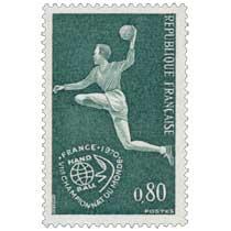 1970 VIIe CHAMPIONNAT DU MONDE FRANCE HAND BALL