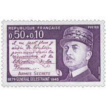 1971 GÉNÉRAL DELESTRAINT 1879-1945 ARMÉE SECRÈTE