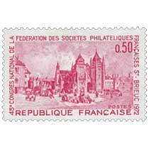 45e CONGRÈS NATIONAL DE LA FÉDÉRATION DES SOCIÉTÉS PHILATÉLIQUE FRANÇAISE ST-BRIEUC 1972