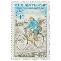 JOURNÉE DU TIMBRE 1972 FACTEUR RURAL À BICYCLETTE EN 1894