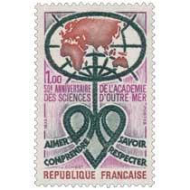 1973 50e ANNIVERSAIRE DE L'ACADÉMIE DES SCIENCES D'OUTRE-MER AIMER COMPRENDRE SAVOIR RESPECTER