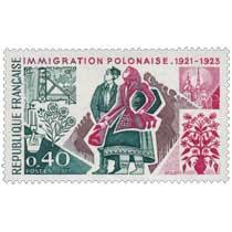 1973 IMMIGRATION POLONAISE. 1921-1923